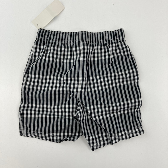 Black and White Plaid Shorts 24 mth