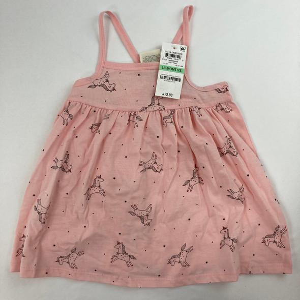 Soft Pink Unicorn Dress 18 mth