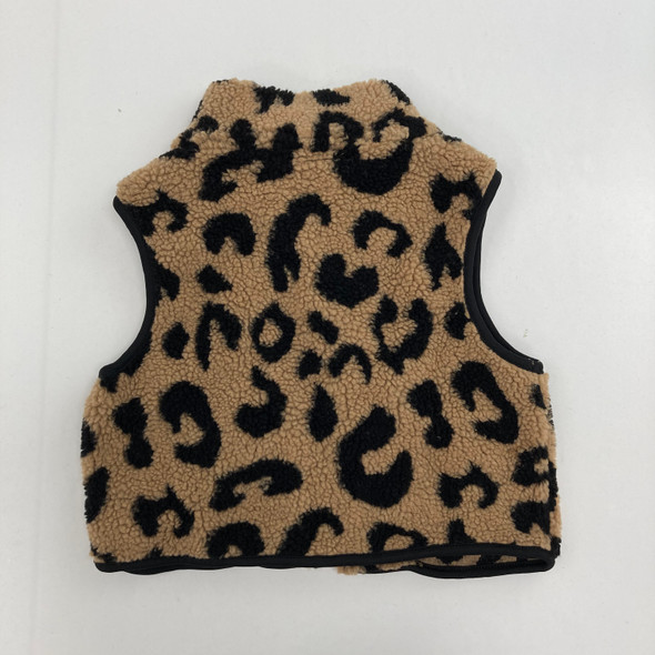 Cheetah Print Vest 7 yr