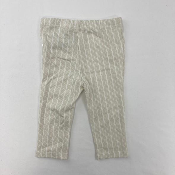 Beige Patterned Leggings 3-6 mth