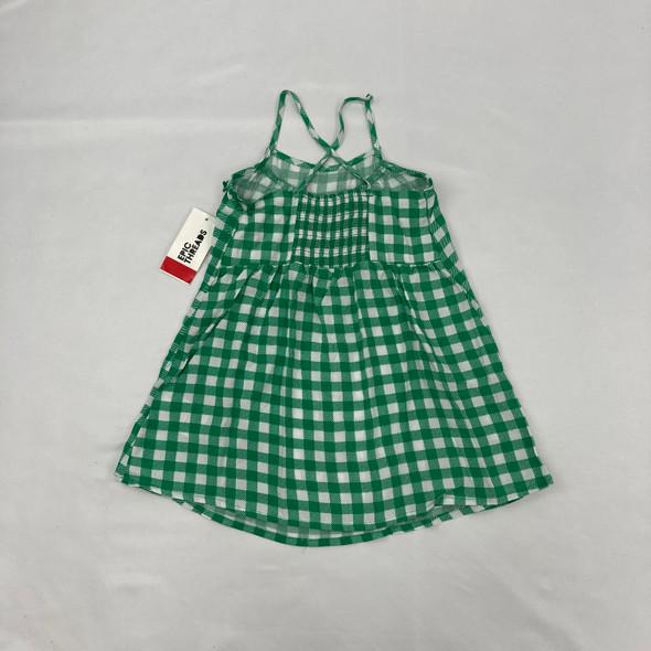 Green Checkered Dress 2T