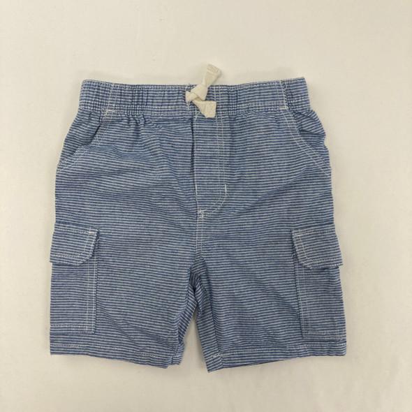 Blue Strip Shorts 24 mth