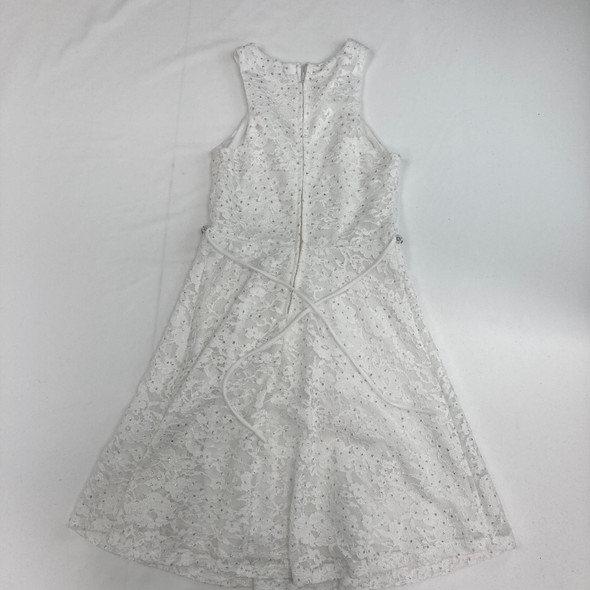 Floral Lace White Dress 12 yr