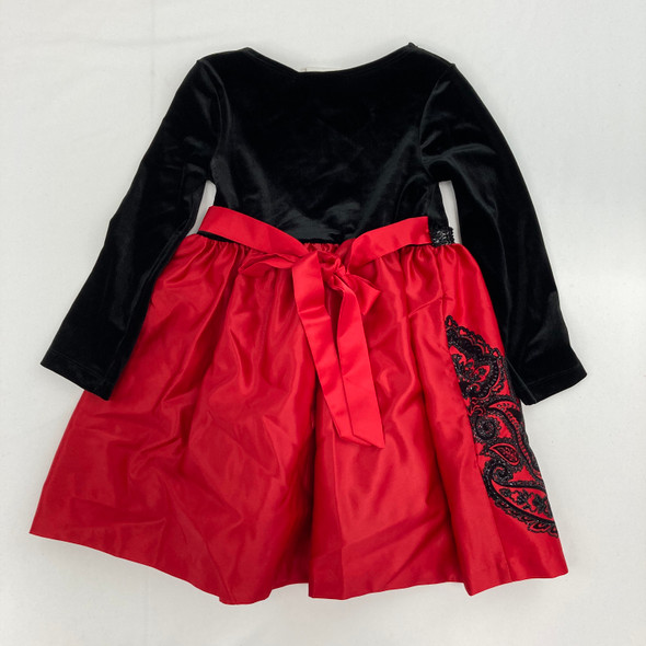Red Holiday Dress 4/4T