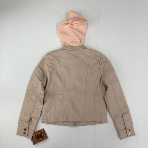 Pink Vegan Leather Jacket Medium
