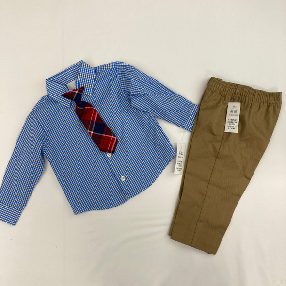 Blue Plaid 3-pc Set 12 mth