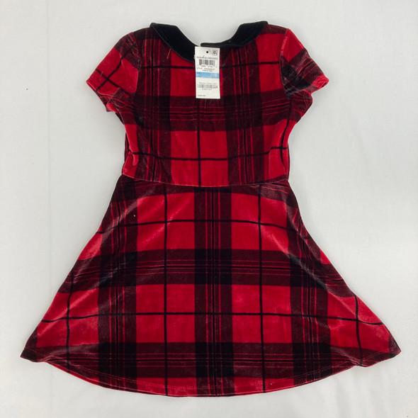 Plaid Collar Dress 4T