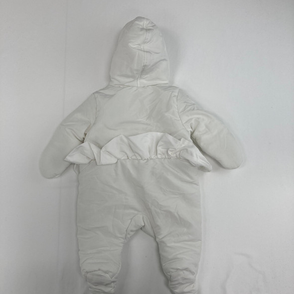 White Ruffle Snow Suit 3-6 mth