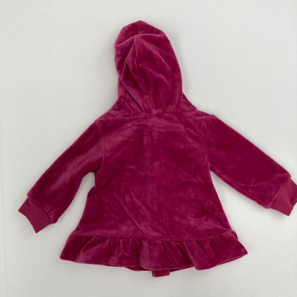 Strawberry Fizz Velvet Sweatshirt 3-6 mth