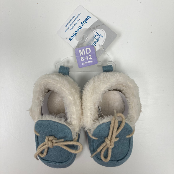 Blue Baby Booties 6-12 mth