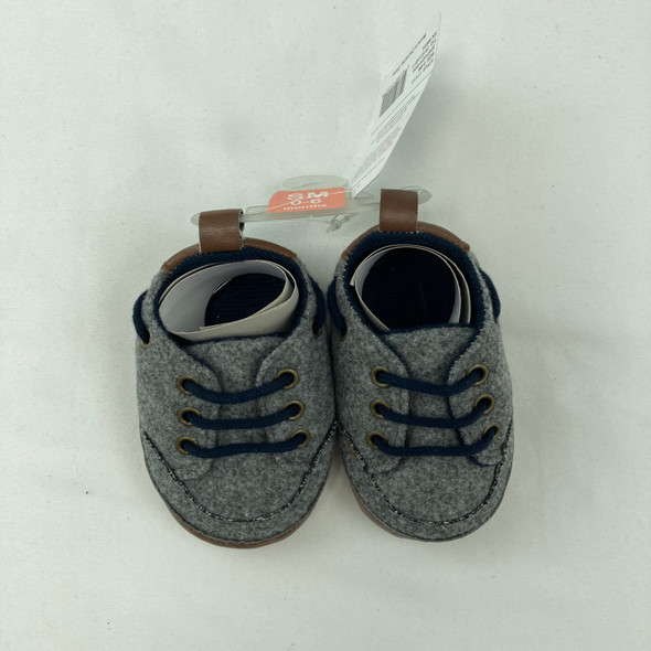 Gray Baby Booties 0-6 mth