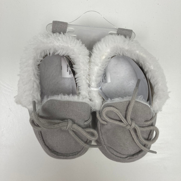 Gray Soft Baby Booties 6-12 mth