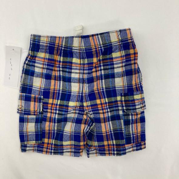 Blue Plaid Shorts 18 mth