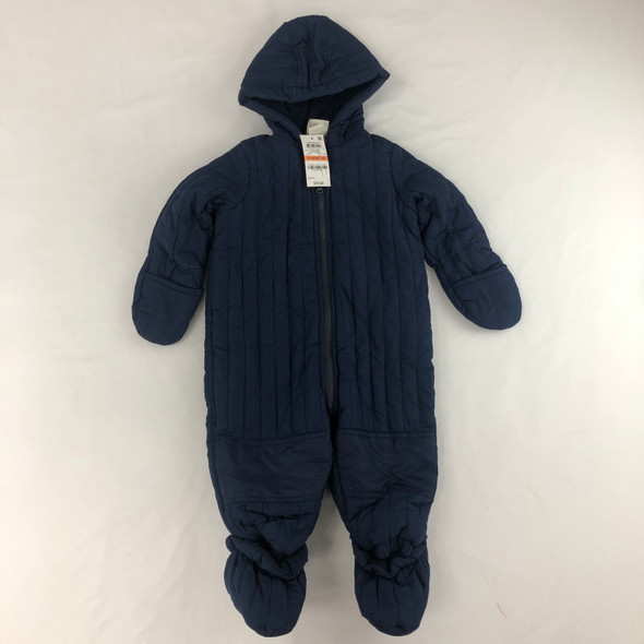 Navy Quilted Snowsuit 12 mth