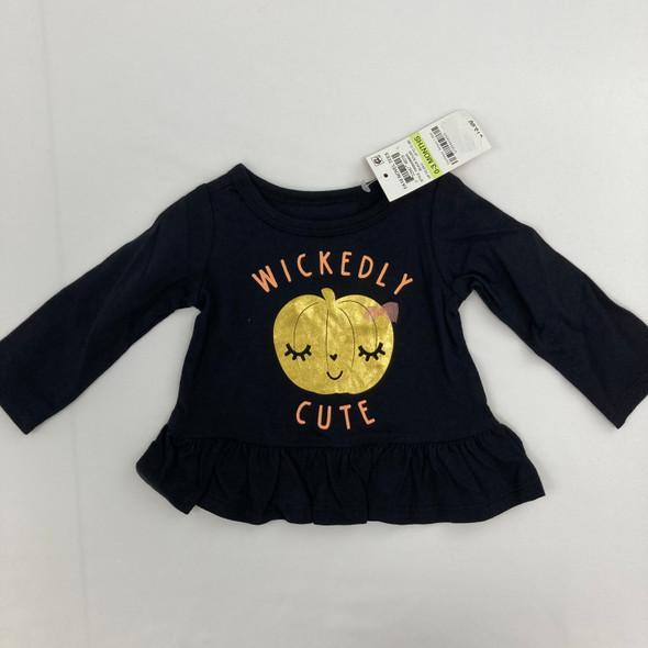 Wickedly Cute Pumpkin Tee 0-3 mth