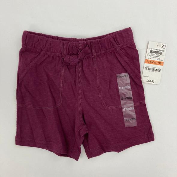 Ripe Burgundy Shorts 12 mth