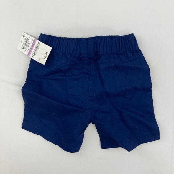 Navy Woven Shorts 6-9 mth