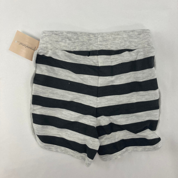 Gray Stripped Shorts 18 mth