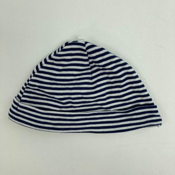 Navy Stripe Hat 6 mth