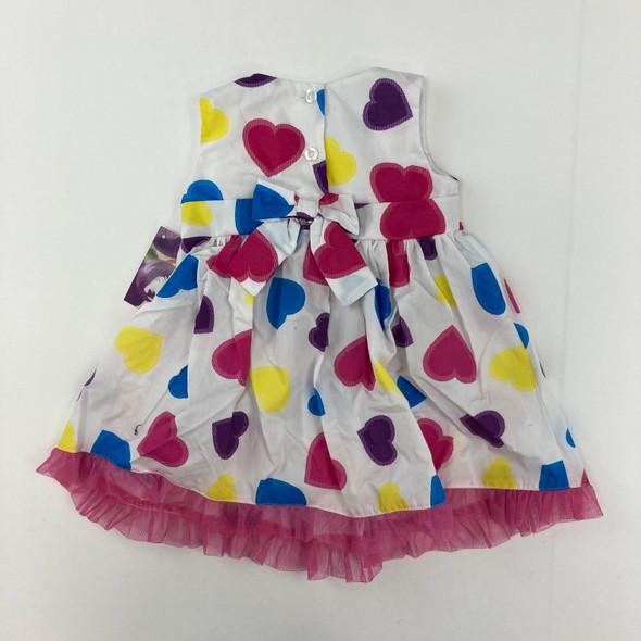 Multi Heart Dress 12 mth