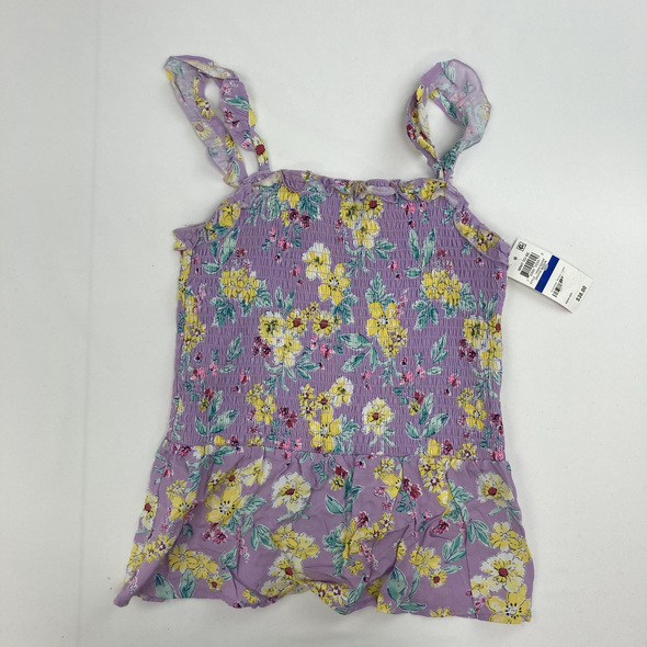 Floral Scrunched Tank XL