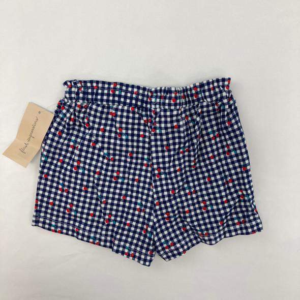 Cherry Check Shorts 6-9 mth