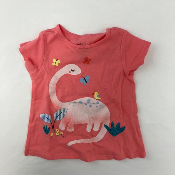 Pink Dino Tee 12 mth