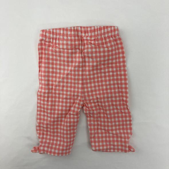 Pink Check Pants 6-9 mth