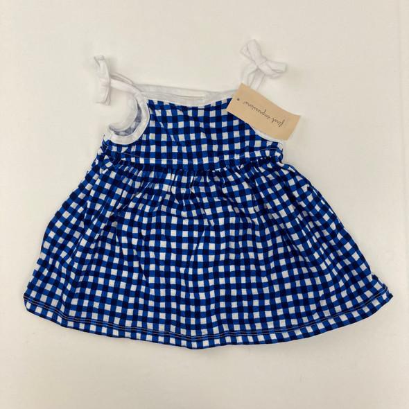 Gingham Blue Dress 6-9 mth