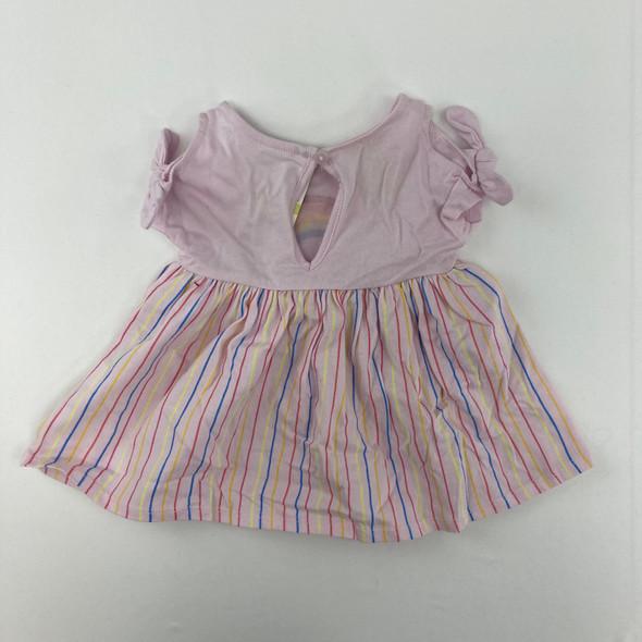 Rainbow Smiley Dress 0-3 mth