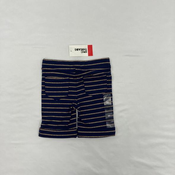 Golden Striped Shorts 3T