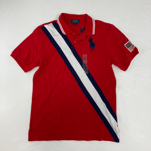 Red Polo Top 18-20 yr