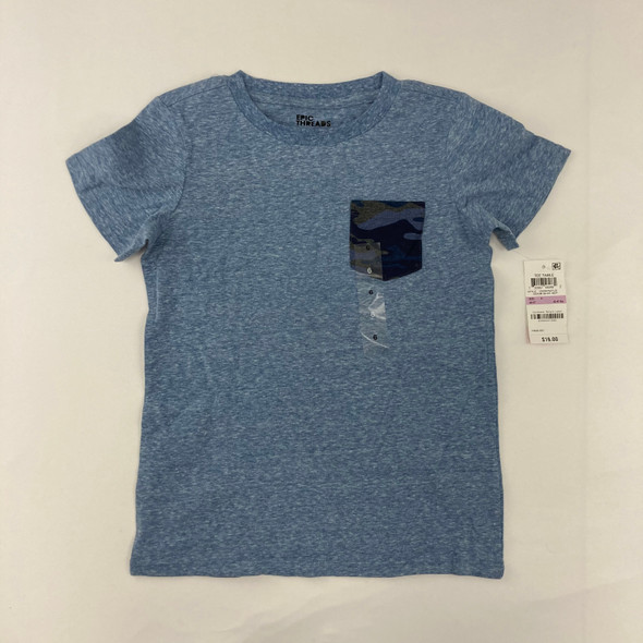 Navy Camouflage Pocket Top 6 yr