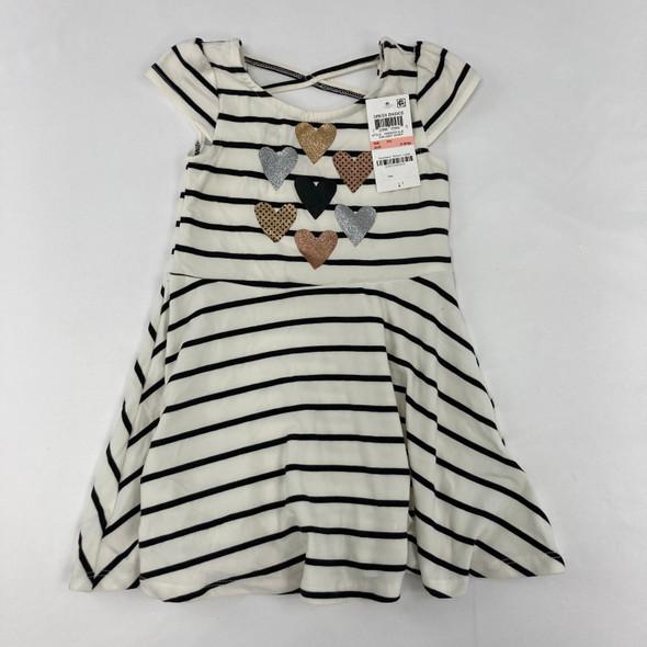 Striped Heart Dress 2T