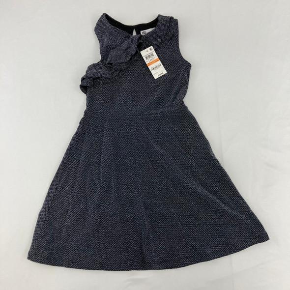 Metallic Ruffle Dress 6X