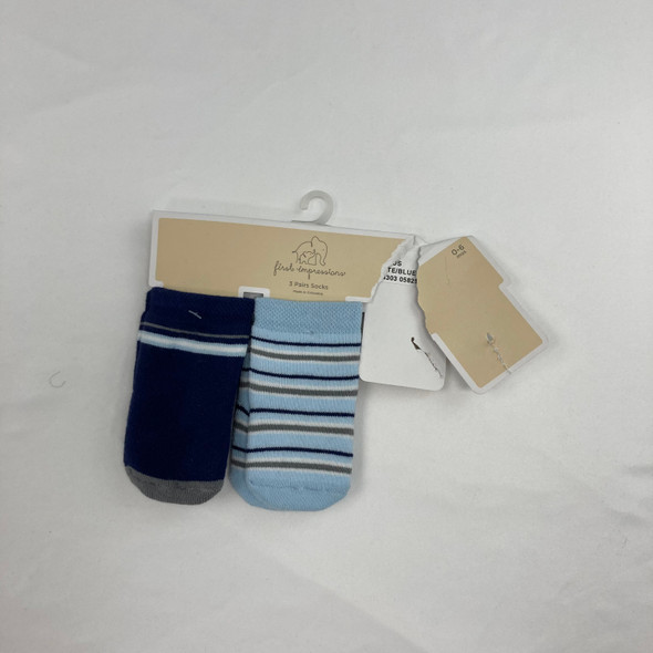 Striped 2-pk Socks 0-6 mth