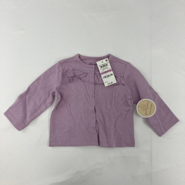 Polka Dot Ruffle Lilac Sweater 6-9 mth