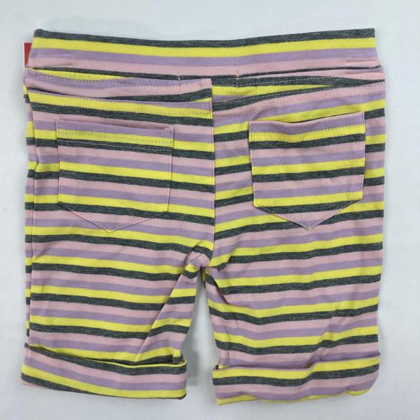 Striped Pocketed Short Leggings 3T
