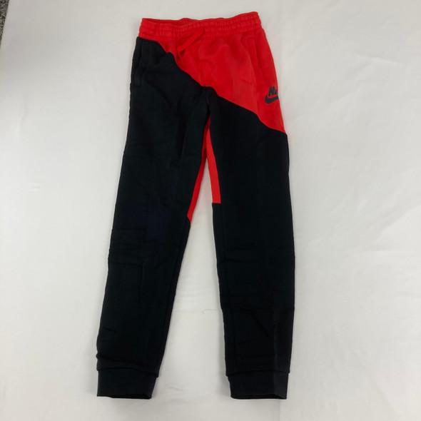 Red Color Block Joggers XL