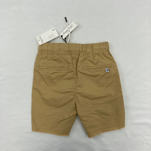 Solid Pull Tie Khaki Shorts 4T