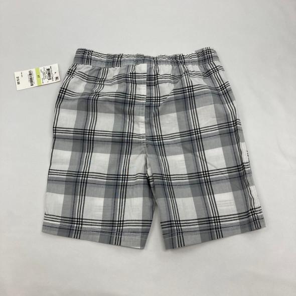 Checkered Pull Tie Khaki Shorts 4T