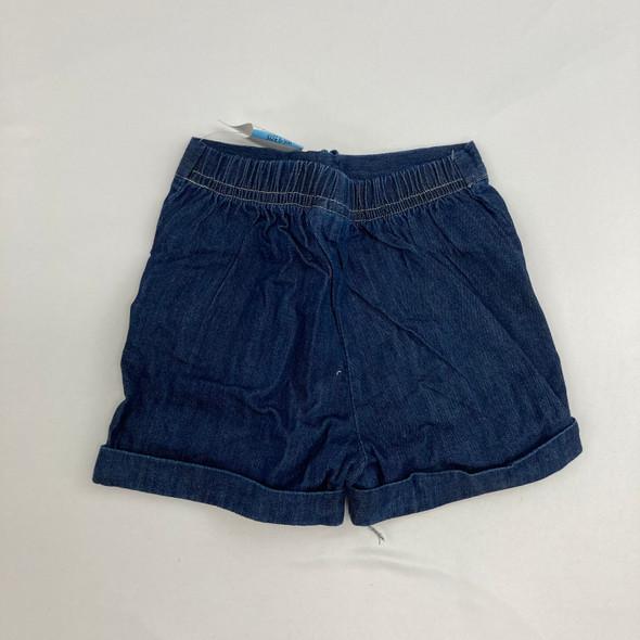 Faux Denim Logo Shorts 6-9 mth