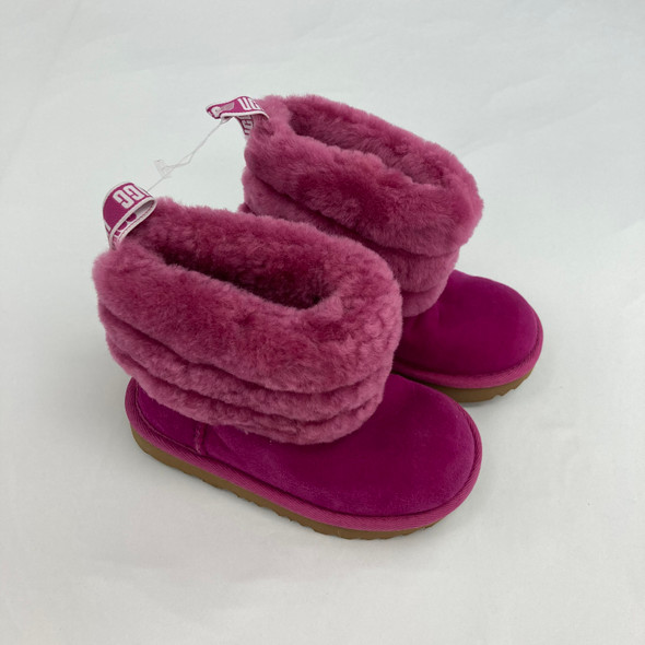 Two Tone Fur Boots 8C