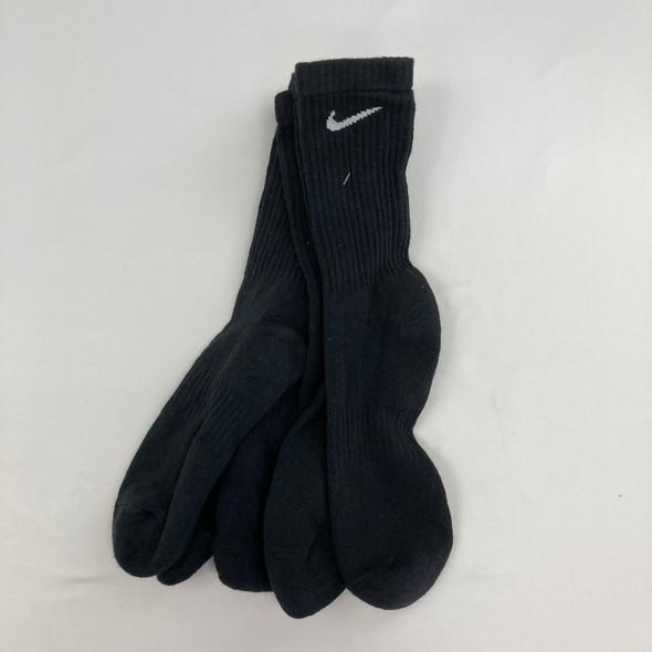 3-pk Solid Swoosh Socks Large
