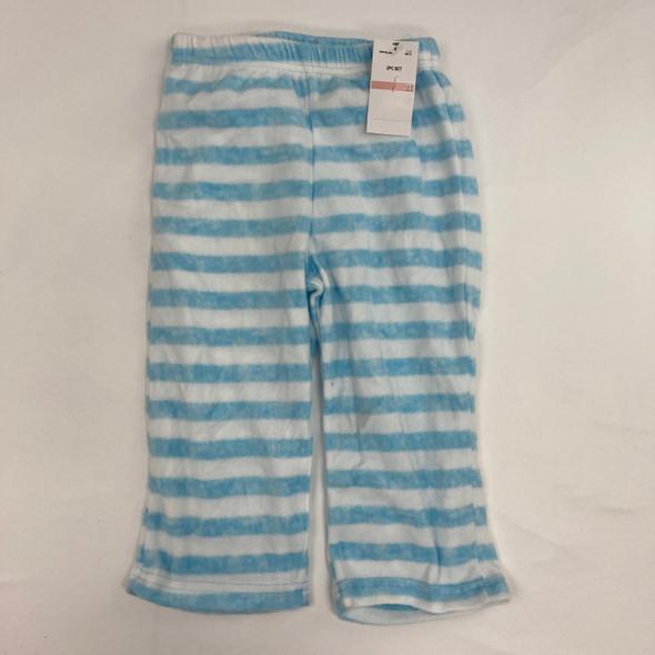 Fuzzy Striped Sleep Pants 2T