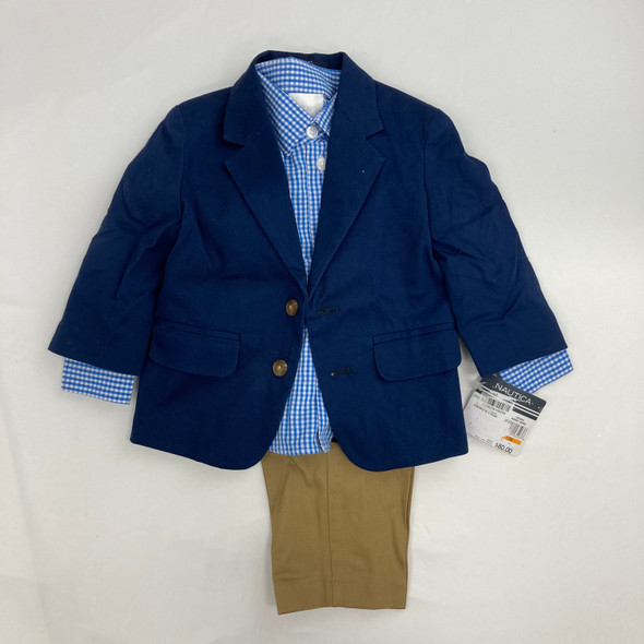Navy Picnic Suit 12 mth