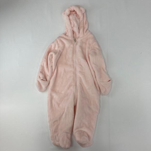 Fuzzy Pink Outerwear 12 mth