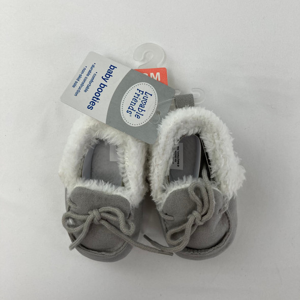 Baby Gray Booties 0-6 mth