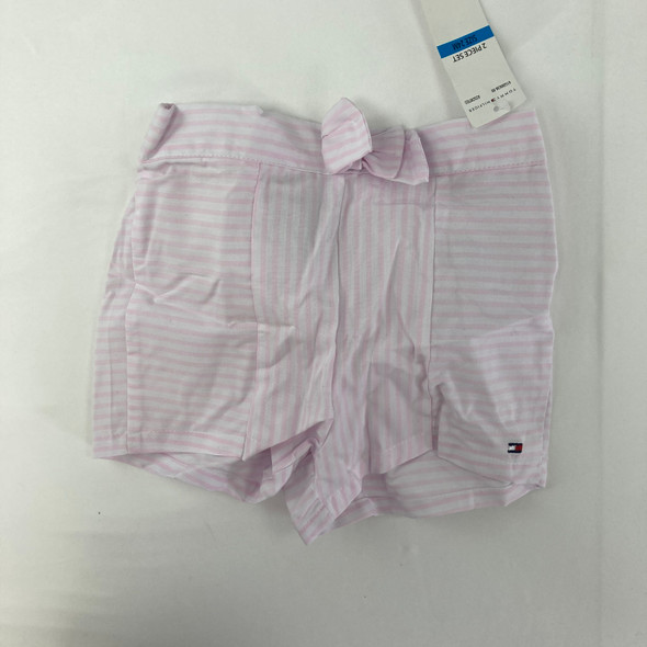 Pink Stripe Shorts 24 mth