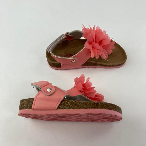 Pink Flower Sandals 8